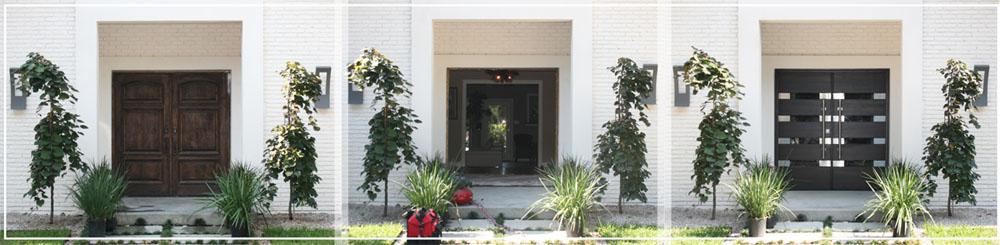 double black front door with bars modern wooden doors