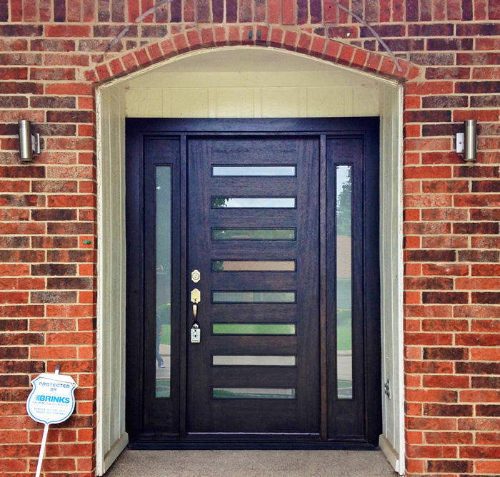 modern exterior door popular in dallas