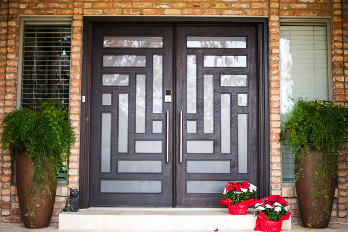 Reinventing your front entryway dallas door designs