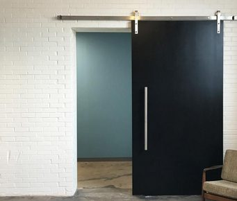 Flush With Horizontal Grooves Modern Dallas Tx Barn Door