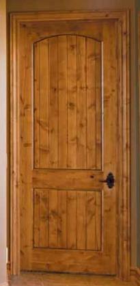Knotty Alder 2 Panel Arch Top Door with V-Grooves ... & Interior Doors Dallas TX   Custom Interior Door   Dallas Doors ...