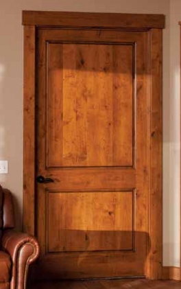Knotty Alder 2 Panel Square Top Door ...