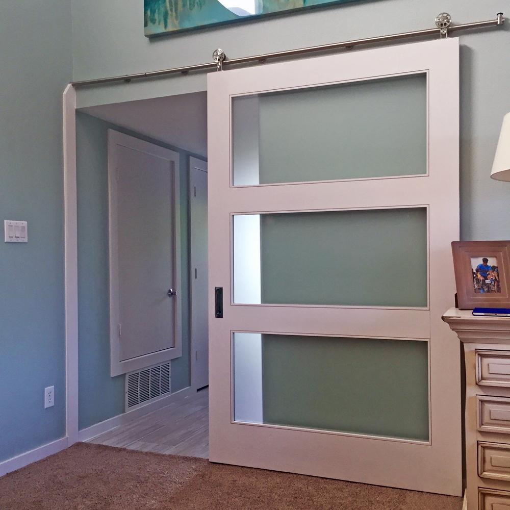 Satin Glass 3-Lite ... & Barn Doors Dallas TX - Sliding Barn Door Installation - Dallas ... pezcame.com