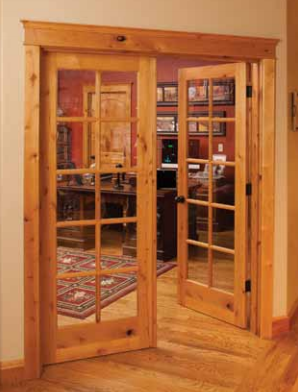 Knotty Alder True Divided Lite Doors