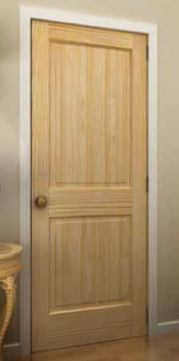 Pine 2 Panel Square Top Doors