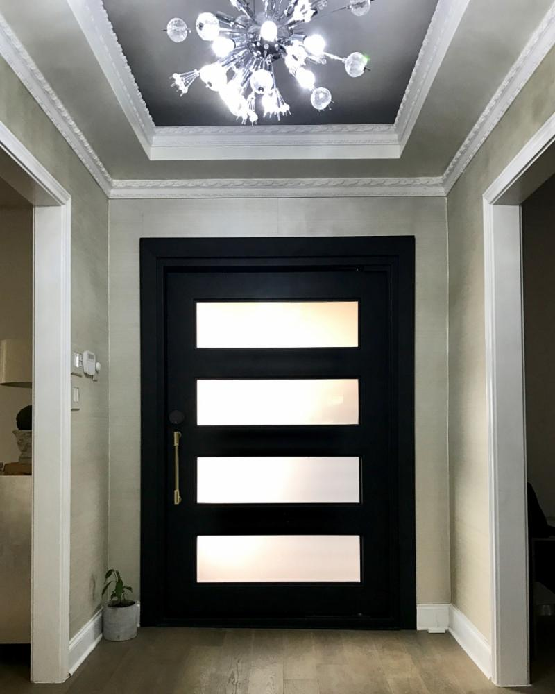 Wrought Iron Entry Pivot Door